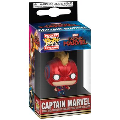 Брелок Captain Marvel - Pocket POP! - Captain Marvel (with Helmet) (4 см)