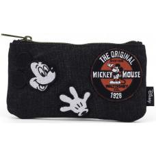 Сумочка для монет/косметичка Mickey Mouse с оригинальными нашивками