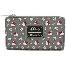 Бумажник со сплошным принтом головы Minnie Mouse и цветка