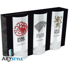 Набор бокалов Game of Thrones (Stark/Targaryen/Lannister)