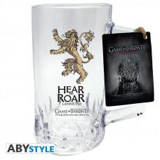 Кружка стеклянная Game of Thrones - Emblem Lannister