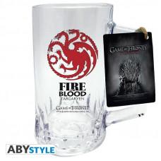 Кружка стеклянная Game of Thrones - Emblem Targaryen