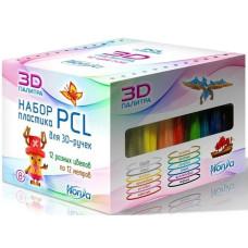 Набор пластика PCL (12 различных цветов по 12 м)