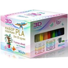 Набор пластика PLA (12 различных цветов по 12 м)