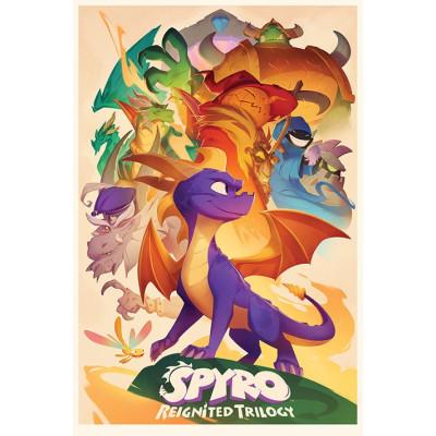 Постер Spyro - Animated Style (61x91.5 см)
