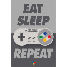 Постер Nintendo - Eat Sleep SNES Repeat (61x91.5 см)