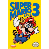 Постер Super Mario Bros 3 - NES Cover (61x91.5 см)