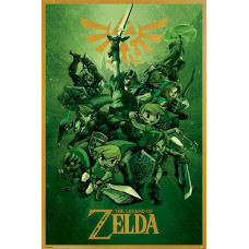 Постер The Legend of Zelda - Link (61x91.5 см)