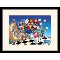 Принт в рамке Super Mario Bros 3 - Art (30x40 см)