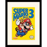 Принт в рамке Super Mario Bros 3 - NES Cover (30x40 см)