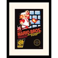 Принт в рамке Super Mario Bros - NES Cover (30x40 см)