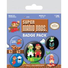 Набор значков Super Mario Bros (Retro) (5 шт)