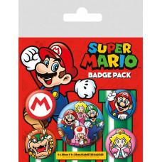 Набор значков Super Mario (5 шт)