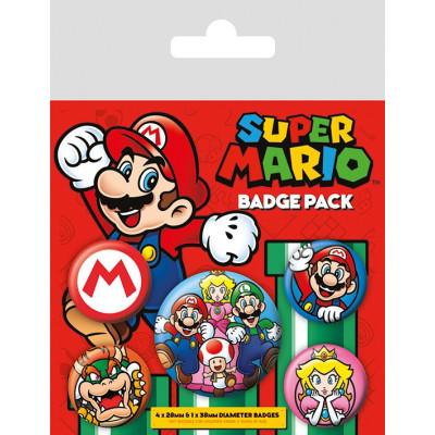 Набор значков Pyramid Super Mario (5 шт) BP80440