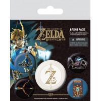 Набор значков The Legend of Zelda: Breath Of The Wild - Z Emblem (5 шт)