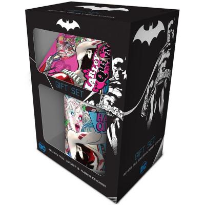 Подарочный набор Pyramid DC Comics - Harley Quinn (кружка / подставка под напитки / брелок) GP85149