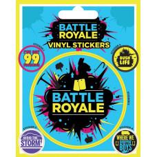 Набор наклеек Battle Royale - Infographic (5 шт)