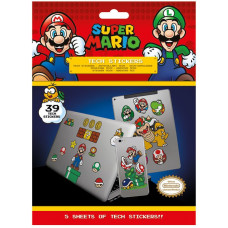 Набор наклеек Super Mario - Mushroom Kingdom (39 шт)