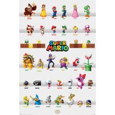 Постер Super Mario - Character Parade (61x91.5 см)