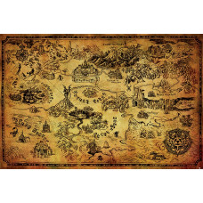 Постер The Legend of Zelda - Hyrule Map (61x91.5 см)