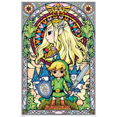 Постер The Legend of Zelda - Stained Glass (61x91.5 см)