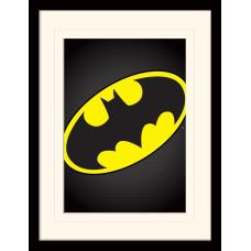 Принт в рамке DC: Comics - Batman Symbol (30x40 см)