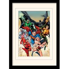 Принт в рамке DC: Comics - Justice League Heroic (30x40 см)