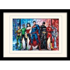 Принт в рамке DC: Comics - Justice League United (30x40 см)