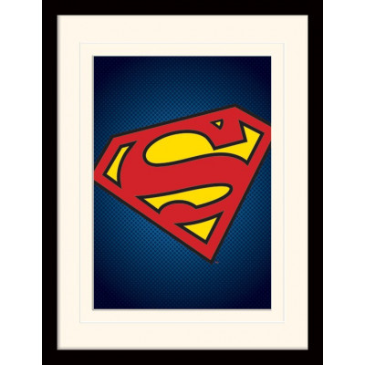 Принт в рамке DC: Comics - Superman Symbol (30x40 см)