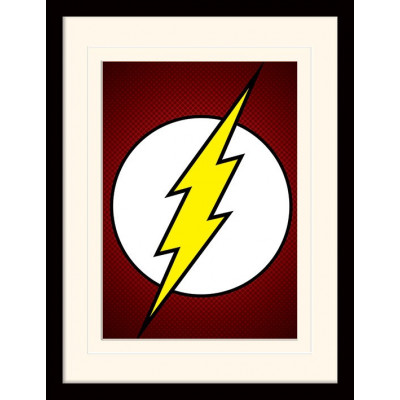 Принт в рамке DC: Comics - The Flash Symbol (30x40 см)