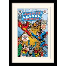 Принт в рамке DC: Comics - Justice League of America (30x40 см)