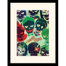 Принт в рамке Suicide Squad - Skulls (30x40 см)