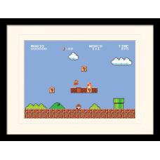 Принт в рамке Super Mario Bros - 1-1 (30x40 см)