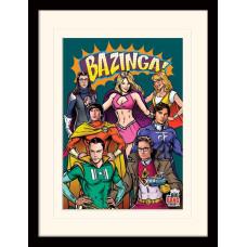 Принт в рамке The Big Bang Theory - Superheroes (30x40 см)