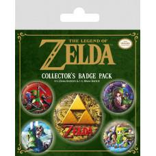 Набор значков The Legend of Zelda (Classics) (5 шт)