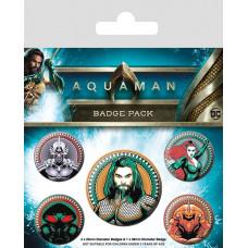 Набор значков Aquaman - Heavy Hitters Of The Seas (5 шт)