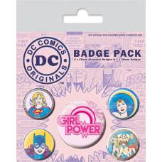 Набор значков DC Comics - Girl Power (5 шт)
