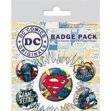 Набор значков DC Originals - Superman Comic (5 шт)