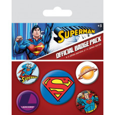 Набор значков DC Comics - Superman (5 шт)