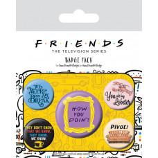 Набор значков Friends - Quotes (5 шт)