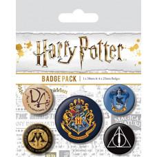 Набор значков Harry Potter - Hogwarts (5 шт)