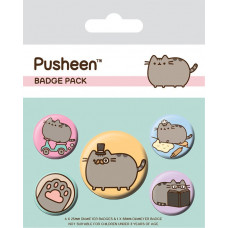 Набор значков Pusheen - Fancy (5 шт)