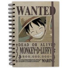 Блокнот One Piece - Wanted Luffy