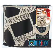 Кружка One Piece - Wanted Straw Hat (Heat Change)