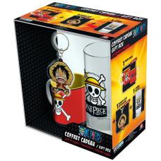 Подарочный набор One Piece - Luffy (кружка + брелок + бокал)