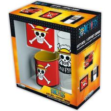 Подарочный набор One Piece - Skull Luffy (кружка / подставка под напитки / стакан)