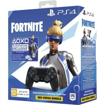 Комплект Fortnite Neo Versa Dualshock 4: Контроллер игровой беспроводной черный (Dualshock 4 Cont Black: CUH-ZCT2: SCEE) + Ваучер «Fortnite 2019»