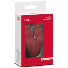 Мышь беспроводная Speedlink Cius (red)