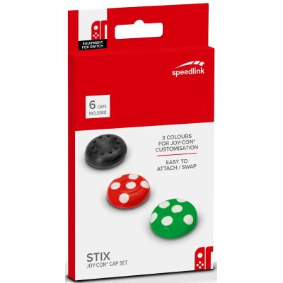 Накладки Speedlink Сменные Stix для контроллера Joy-Con NS (6 шт) SL-330603-MTCL