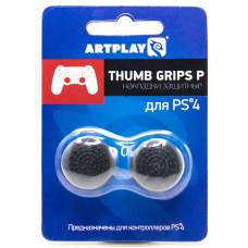 Защитные накладки Thumb Grips на стики геймпада DualShock 4 для PS4 (2 шт, выпуклые, черные)